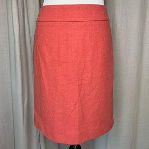 J. Crew Wool Blend Pencil Skirt Size 8